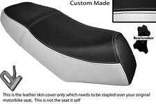 WHITE & BLACK CUSTOM FITS LEXMOTO GLADIATOR 125 DUAL LEATHER SEAT COVER ONLY