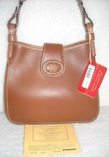 Rare Vintage~Dooney & Bourke Feedbag Donegal Crest Brown/Tan Leather $230 Retail