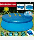 6-10ft Round Above Ground Swimming Pool Cover Tarp Easy Fast Set Rope USA.