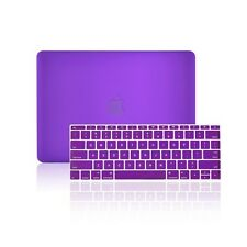 "2 IN 1 PURPLE Matte Case for Macbook 12"" Retina Model A1534 with Keyboard Cover"