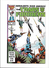 """TRANSFORMERS #21  [1987 VG-FN]  """"AERIALBOTS OVER AMERICA!"""""""