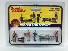 Woodland Scenics Figures People A 1916 - Park Bums Hobo's HO Scale Model Trains