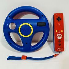 Official Mario Wii Remote Motion Plus Controller + Wheel -Limited Edition-Tested