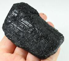 522.1Ct Natural Black Tourmaline Crystal Facet Rough Specimen YBXB1
