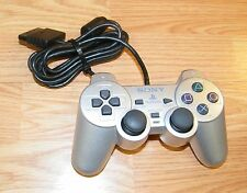 Genuine Sony (SCPH-10010) Silver Wired Controller Only For PlayStation PS2