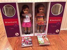 AMERICAN GIRL Doll LOT~GRACE THOMAS 2015 + LEA CLARK 2016 NEW~NIB~SHIPS FASSST!