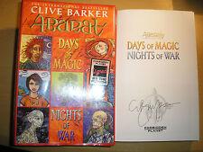 CLIVE BARKER - ABARAT BK 2:DAYS OF MAGIC NIGHTS OF WAR 1st/1st HB/DJ 2005 SIGNED