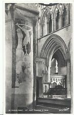 Hertfordshire Postcard - St Albans Abbey - 13th Cent. Painting in Nave   ZZ1997
