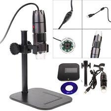 20-800X 8LED Light USB Digital Microscope Endoscope Magnifier Video Camera Stand