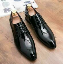 Mens Shiny Patent Leather Pointy Toe Smart Oxfords Formal Dress Wedding Shoes Sz