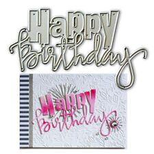 Happy Birthday Metal Cutting Dies Stencil DIY Scrapbooking Album Card Decor