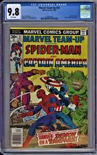 Marvel Team-Up #52 CGC 9.8 NM/MT Wp 1976 Spider-Man & Captain America Vs. Batroc