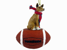 Basenji Dog Football Sports Figurine Ornament