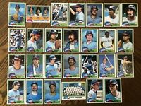 1981 TEXAS RANGERS Topps COMPLETE MLB Card Team Set 27 Cards JENKINS OLIVER BELL