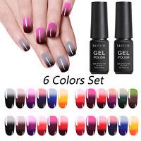 LILYCUTE 6 colori set gel smalto per unghie con gel termico Soak Off UV Gel 7ml