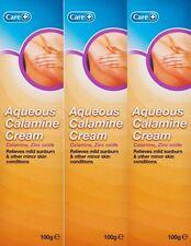 3 x Care Aqueous Calamine Cream 100g Tubes