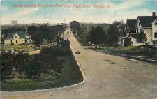 Cedar Rapids Iowa~Homes on Either Side of 1st Ave Boulevard~Trolley 1914