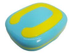 Aqua Yellow C Coloured Contact Lens Travel Kit - Mirror - Case - Tweezers