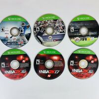 Lot of (6) Xbox One SportsVideo Games- NBA 2k16 2k17, Madden 16 17, FIFA 16