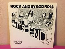 """ULTRA RARE Wits End """"Rock and by God Roll """"1979 Texas Private Hard Rock Vinyl LP"""