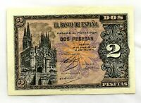 Spain- Guerra Civil. Billete. 2 Pesetas. 30 de Abril 1938. Burgos. SC/UNC.