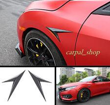 2*FOR HONDA CIVIC 2016-2018 Car SideImpact Bars Badge Trim Carbon fiber style