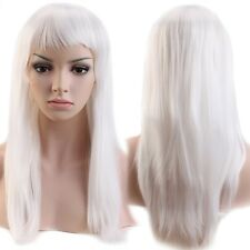 Women Full Hair Wig Fashion Long Straight Curly Cosplay Party Natural Wigs Brown
