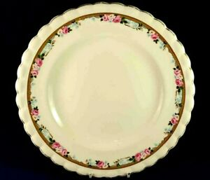 J&G MEAKIN PINK & WHITE ROSES & FORGET ME NOTS DINNER PLATE