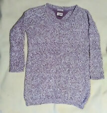 Pull femme HILFIGER DENIM American brand mauve chiné taille XS - BE