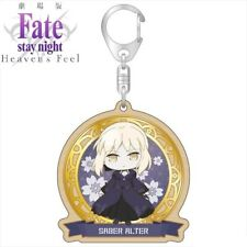 Caravan Fate/stay night Heaven's Feel Wood Keychain Saber Alter ver. Altria NEW