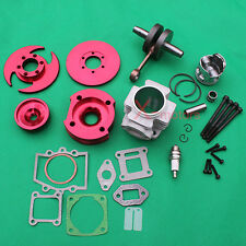 CNC 53cc Big bore Cylinder piston Crankshaft for 49cc mini dirt bike pocket bike