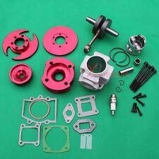 CNC 53cc Big bore Cylinder piston Crankshaft for 49cc mini dirt bike pocket bike