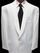 Size 56 Long  Classic White Shawl Lapel Dinner Jacket Formal Masonic Gala 56L
