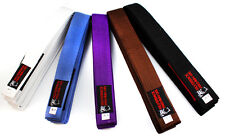 Silverback Premium BJJ Gi Belts Blue White Purple Brown Jiu Jitsu A1 A2 A3 A4 A5