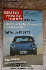 AMS Auto Motor Sport 24/68 Porsche 911 BMW 2002 Alpina Commodore GS
