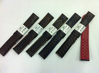 Genuine Leather, ZRC  Rally Perforated Racing Watch Strap , Superior Quality