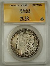 1894-O Morgan Silver Dollar Coin ANACS VF-30 Details Cleaned