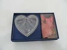 "Wedgewood Full Lead Crystal Heart Shaped Candy DIsh 4"" x 4"" - NEW"
