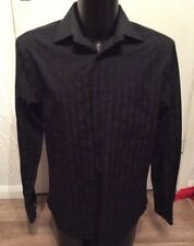 "luxury two fold black shirt size L 42/44"" chest"