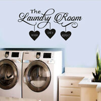 Laundry Room Quote Wall Sticker Home Decor Popular Vinyl Removable Art Decal