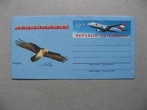 AUSTRIA, ill. aerogramme, mint, birds of prey vulture