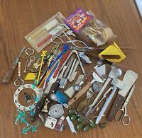 Vintage Kitchen Junk Drawer Lot 60+ Pieces! Advertising MId Century
