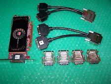 ATI FirePro 2450 Multi-View 512mb PCIe x16 QUAD MONITOR DVI o VGA Scheda Grafica