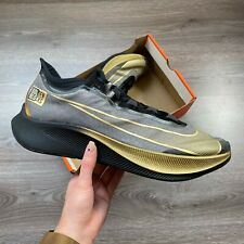 NIKE ZOOM FLY 3 GREY/GOLD/BLACK RUNNING TRAINERS SHOES SIZE UK7.5 US8.5 EUR42