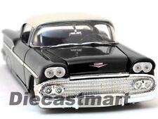 1958 CHEVROLET IMPALA 1:24 DIECAST MODEL CAR BLACK BY JADA SHOWROOM FLOOR 98895