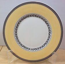 NEW Villeroy & Boch Audun Fleur Salad Plate Yellow Band Black Trim Porcelain