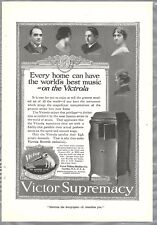 1918 VICTOR advertisement, Victor Talking Machine Victrola Master's Voice