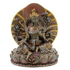 "GREEN TARA STATUE 6"" Seated Buddhist Icon Goddess HIGH QUALITY Bronze Resin NEW"