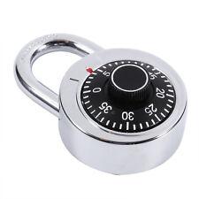 Rotary Zinc Alloy Padlock Digit Combination Code Lock Fixed Dial