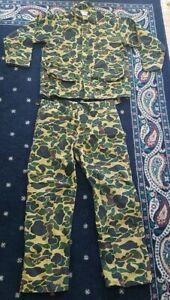 Saftbak Vintage Camo Jim Catfish Hunter Button Shirt and Pants Camouflage